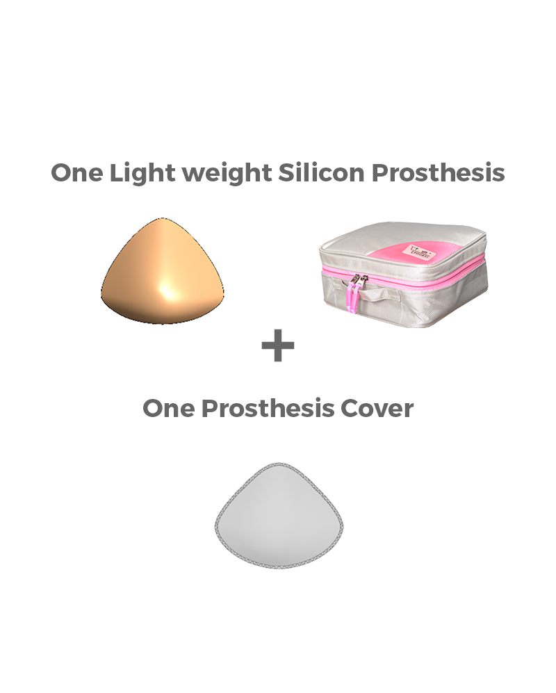 Light weight silicon prosthesis kit for breast cancer survivors