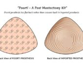 Poorti light weight silicone prosthesis for breast cancer susvivors