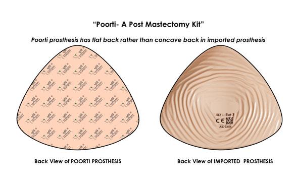 Poorti- Post mastectomy silicone artificial prosthesis kit