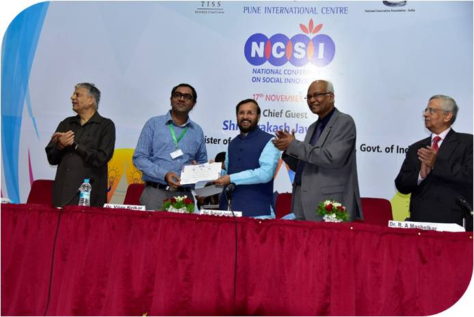 Poorti being awarded by NCSI